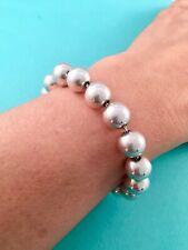 "Tiffany & Co Silver Hardware Bead Ball Bracelet 7.5"" Beads 10mm. RRP $495"