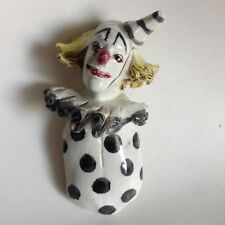 """Studio Art Pottery Pagliacci Clown Sculpture  Wall Hanging Hand Painted 5.25"""""""