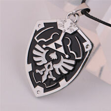 The Legend of Zelda Triforce Shield Pendant Necklace Cosplay Gift Black Unisex