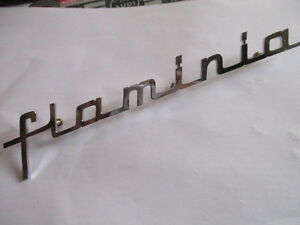 Lancia Flaminia Lettering Bootlid New S30 Nameplate