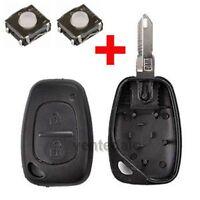 Coque PLIP Télécommande Clé Renault Trafic Kangoo Mascott + 2 Switchs