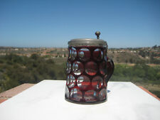 ANTIQUE BOHEMIAN RUBY TO CLEAR LAYERED GLASS STEIN GERMANY 0.5L  c.1900