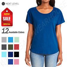 Next Level Women's Relaxed Fit Ideal Dolman Sleeve S-XL T-Shirt R-1560