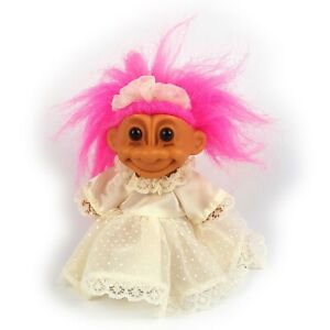 "Russ Troll Bride Wedding Dress 12"" Large Toy Figure Figurine Vintage"