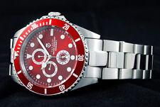 Divers Cavadini GMT Full Calendar Watch 30 Bar Waterproof Solid FERARI RED NEW