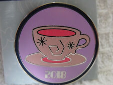 2018 Disney Booster Trading Pin Park Attractions Mad Tea Party Teacups