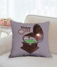 """Spin Alley """"The Icons"""" Victor III 18"""" x 18"""" Throw Pillow"""