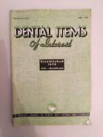 Dental Items de Interes N º 4 A Monthly Journal Abril 1938