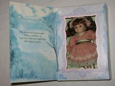 Marie Osmond Fine Porcelain Greeting Card Doll by Knickerbocker Mothers Day 1997