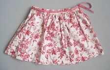 KELLY'S KIDS Girls 3 4 Yrs Red & Cream Floral Toile Skirt EUC XS