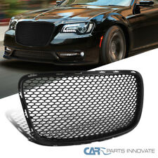 For 15-19 Chrysler 300/300C Black Front Mesh Style Hood Grille Grill Replacement