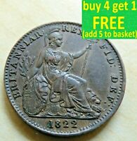 Milled Farthing Choose Each Coin has its own Pictures George IV or William IV