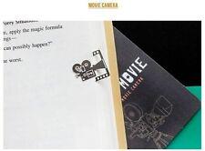 Movie Camera - Stainless Steel Metal Movie Film Art Bookmark Perfect Gift