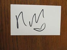 "NICKI  MINAJ (Songs-""Super  Bass/Starships/Anaconda"") Signed  3 x 5  Index  Card"