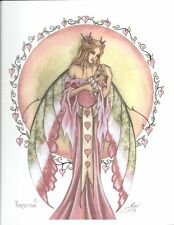 """Amy Brown Fairy Faery Print 8.5""""x11"""" Perfection Mother Baby Girl Shower Nursery"""