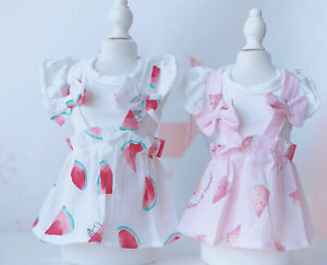 Small Dog Pet Clothes Summer Watermelon Skirt Puppy Cat Chihuahua Dog Bow Dress