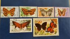 LAOS STAMPS BUTTERFLY / VLINDERS  1982  MINR 554/559 COMPLETE SET