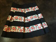 Touch Me Women's Skirt  Size M Black and Floral