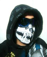 Skull Face Mask Custom*MotorBike*Off Road*Bobber*Harley*Chopper*Open Face Helmet