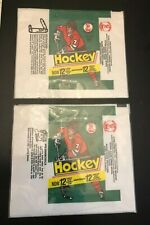 1977-78 O-Pee-Chee WHA Hockey Wax Wrappers 2 Different SHARP B