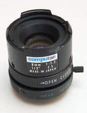 "Computar CS TV Lens 8mm f1.2 1/3"" - For CCTV Security Camera"