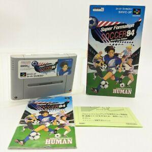 """Super Formation Soccer 94 Nintendo SENS Super Famicom """"SFC"""" original box 1994"""