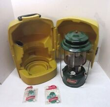 Vintage Green Double Mantle Coleman Lantern Model 220J  Dated 11/77 & Carry Case