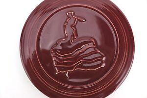Fiesta TRIVET Dancing Lady Dancer Maroon Burgundy Lead Free U.S.A. Fiestaware