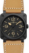 BR-03-92-HERITAGE-CERAMIC | BELL & ROSS CARBON | NEW MENS 42 MM AUTOMATIC WATCH