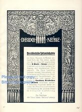 Silesian Lace Industry Bloch Nysa XL 1925 German ad Neisse advertising ad +