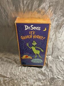 Its Grinch Night VHS Dr. Seuss Animated