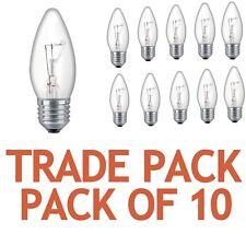 Paquete De 10 PLUS LITE Ahorro De Energía 25w E27 Rosca Vela Transparente
