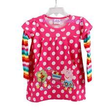 NEW with tags BNWT girls peppa pig polka pink rainbow top tunic dress size 2