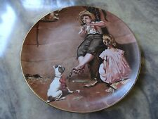 """Music Master Plate by Norman Rockwell - """" Innocence of Youth"""" Collection w/ box"""