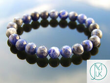 Sodalite Natural Gemstone Bracelet 7-8'' Elasticated Healing Stone Chakra Reiki