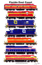 Florida East Coast Locomotives set of 7 magnets Andy Fletcher