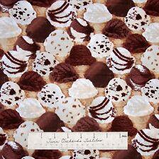 "Food Fabric - Brain Freeze Packed Ice Cream - Benartex Kanvas Studio 13"""