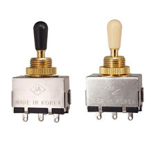 2 Pieces Closed Electric Guitar Pickup Selector Tone Control Toggles Diy