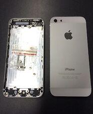 Gehäuse Backcover Akkudeckel Rahmen für iPhone 5 in weiß silber mit Werkzeugset