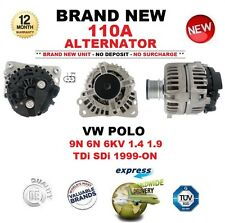 Para VW Polo 9N 6N 6 kV 1.4 1.9 TDI SDI 1999-ON nuevo 110 A Alternador calidad OE