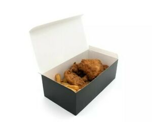 Green Effect Compostable Large Black Food Box 250 pcs 23x12x8cm