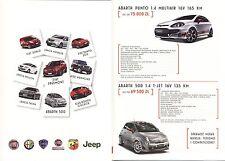Abarth Alfa Fiat Lancia Jeep Gamme 2013 catalogue brochure polonais model range