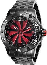 25849 invicta hombre turbina Automático 52mm rojo esfera negra brazalete reloj