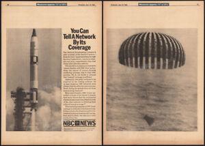 NBC News - Gemini 9__Original June 1966 Trade AD promo / poster__splashdown_NASA