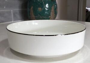 Mikasa SILVER RING Serving Salad Vegetable Dessert Bowl A4186 Bone China 23cm