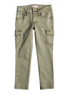 Roxy Kids Cecilcargo Cargo Pants Oil Green Sz 5 ERLNP03016