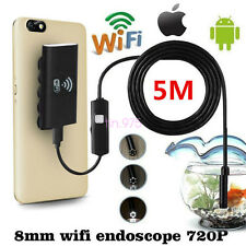 Portable 5m 8.0mm Car Vehicles 6LED HD 720P Wifi Diagnostic Inspection Endoscope