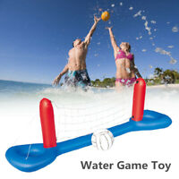 Inflatable Water Volleyball Set Swimming Pool Floating Ball Outdoor Game Toy US