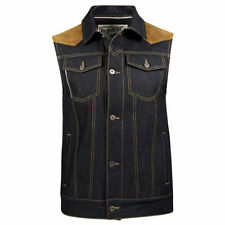 Rokker Mixed Motorbike Motorcycle Vest Denim