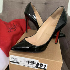 Authentic Black Christian Louboutin Patent Pigalle 100 Shoes Pumps With Box 37 4